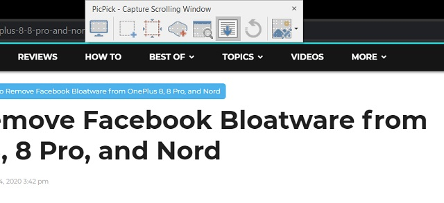 Take a Scrolling Screenshot on Windows 10