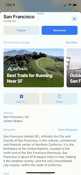 2. Use the New Guides Feature in Apple Maps