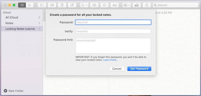 3. Entering Password