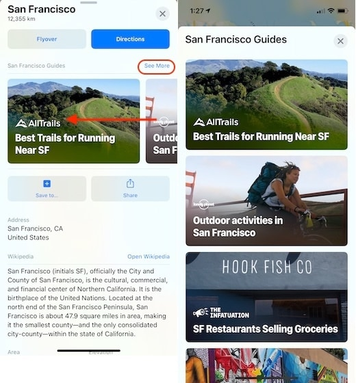 3. Use the New Guides Feature in Apple Maps
