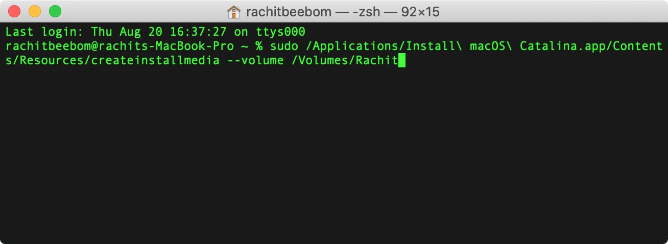 4. Install macOS Using a USB Bootable Drive