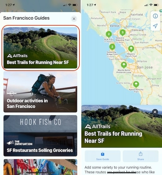 4. Use the New Guides Feature in Apple Maps