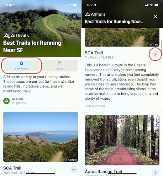 5. Use the New Guides Feature in Apple Maps