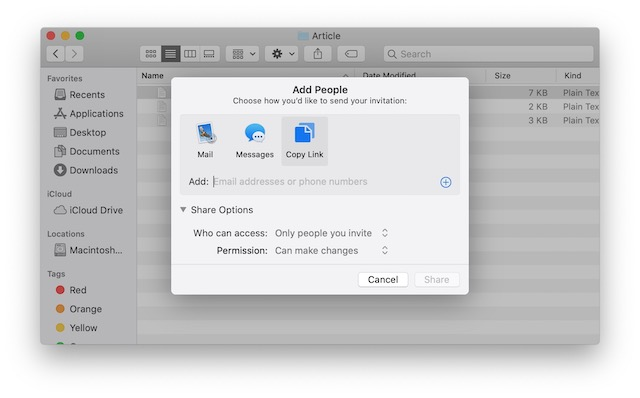 5.1 Share Files using iCloud File Sharing on Mac