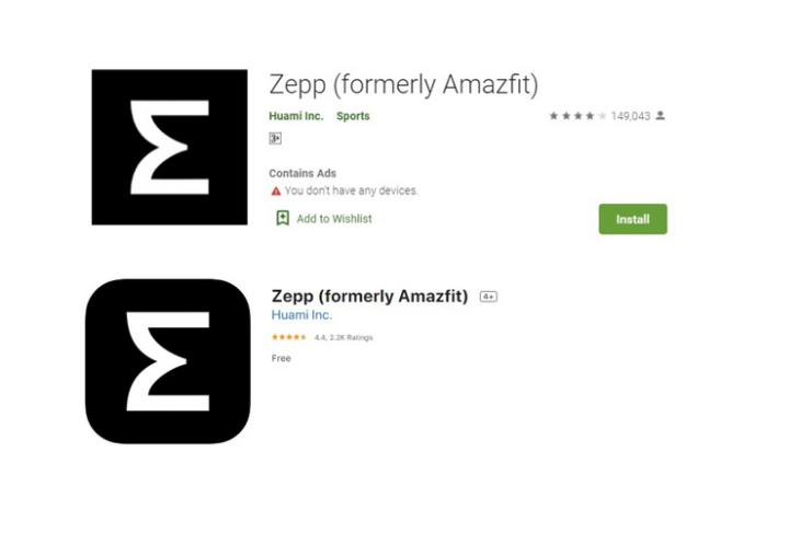 Amazfit App Is Now 'Zepp' on Android and iOS