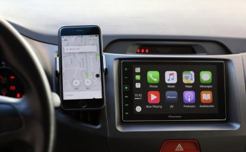 Apple car display within glass feat.