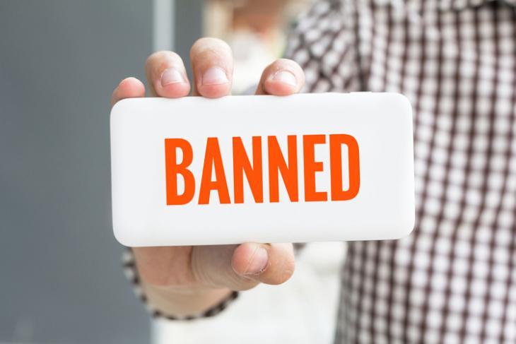 Banned shutterstock website