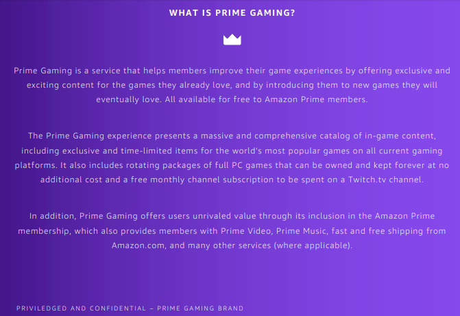 prime gaming - what's new