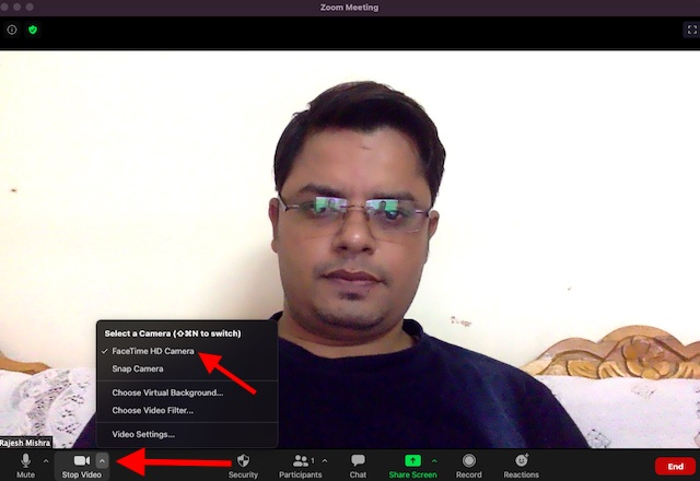 Enable snap camera in zoom