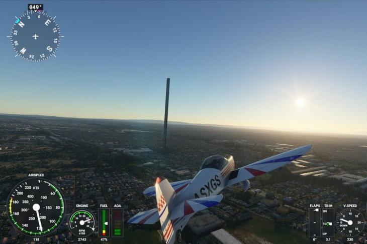 Flight simulator 212 story building feat.