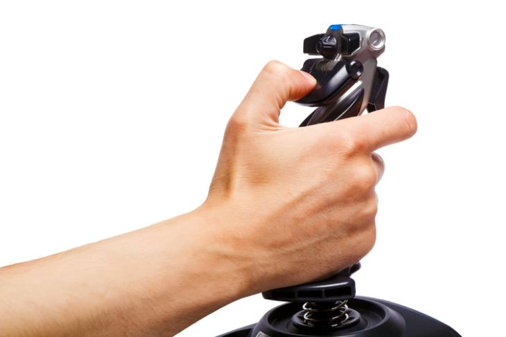 Flight stick controller selling feat.