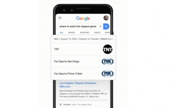 Google Search Now Helps Users Find Live Sports and TV Shows