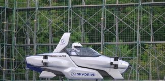 Japan flying car with a person feat.