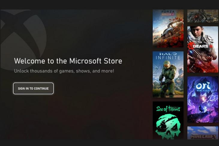New MS Store on Xbox website