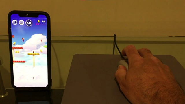 Nintendo mouse still works with iPhone 1