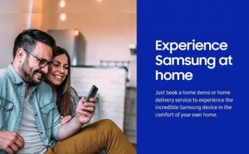 Samsung home demo and delivery service