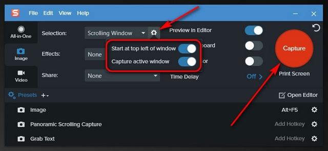 Как сделать снимок экрана с прокруткой в Windows 10