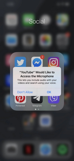 YouTube Trying to Access Microphone on iPhones Even When Not in Use: Report