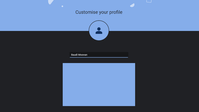 chrome new profile creation UI