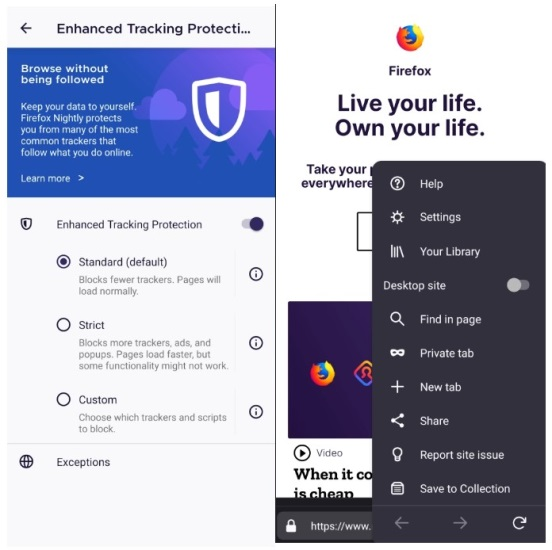 firefox enhanced tracking protection