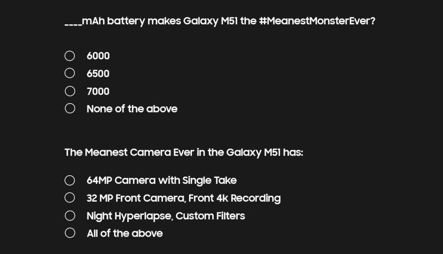 galaxy m51 specs