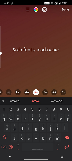 instagram story fonts