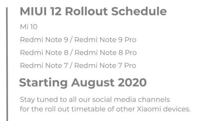 miui 12 update rollout india