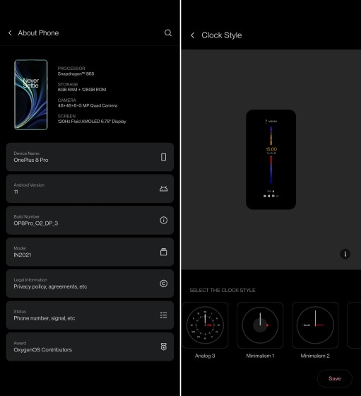 OnePlus 8 and 8 Pro Get Android 11 Developer Preview 3 with OxygenOS 11 Features