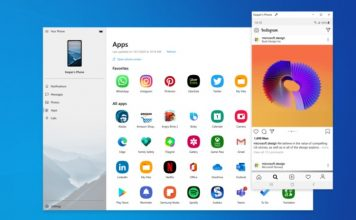 your phone app - microsoft - run Android apps on Windows PC