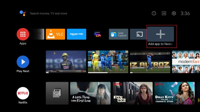 Найдите поддержку Miracast на Android TV