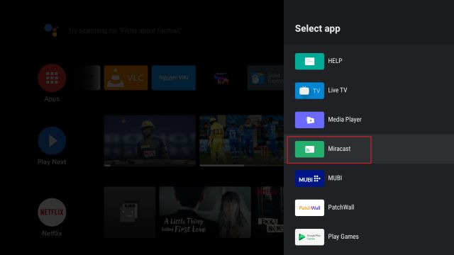 Find Miracast Support on Android TV