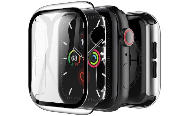 6. LK Tempered Glass Case for Apple Watch