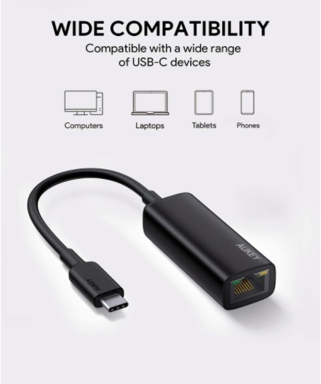 AUKEY USB C to Ethernet Adapter