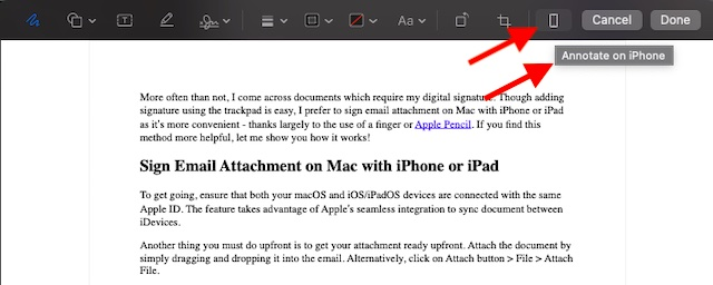 Annotate on iPhone or iPad