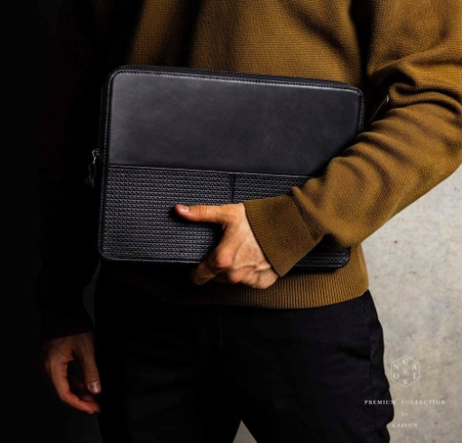 CAISON Genuine Leather Laptop Case Sleeve for 2019 New 16 inch MacBook Pro