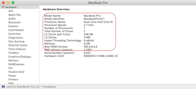 Check CPU Configuration of Mac 4