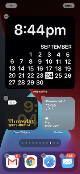 Custom widget on Home screen