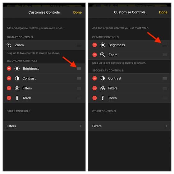 Customize controls