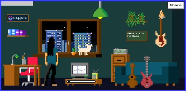 Google Lo-fi player room