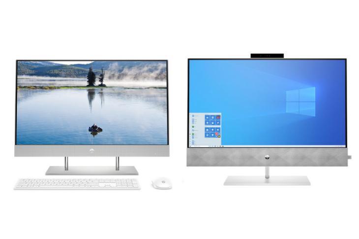 HP AIO desktops website