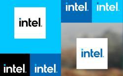 Intel new logo website