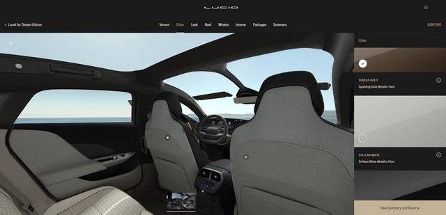 Lucid air customizer int.