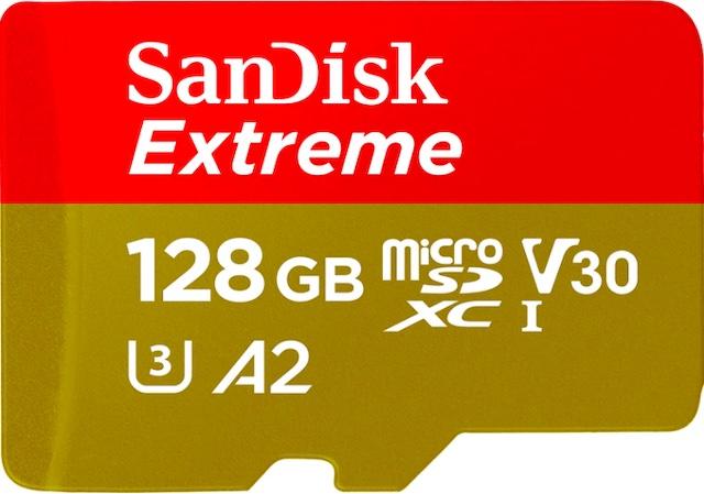 SanDisk 128GB Extreme microSDXC UHS-I Memory Card