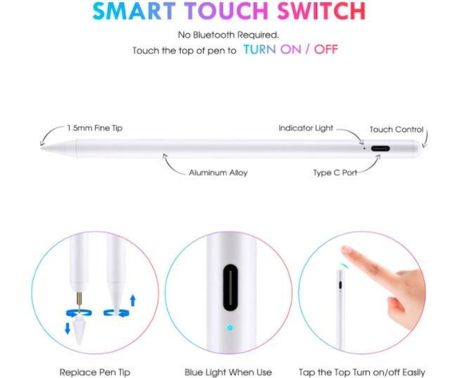 Stylus Pen Compatible with Apple iPad
