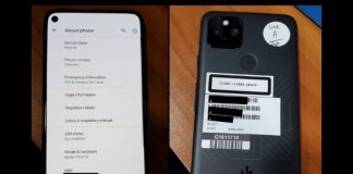 alleged google pixel 5s shows up online