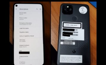 alleged google pixel 5s shows up online