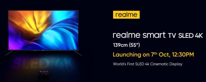 realme smart TV SLED 4K - 55-inch