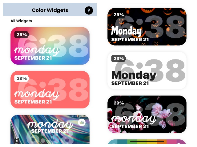 colorwidgets designs
