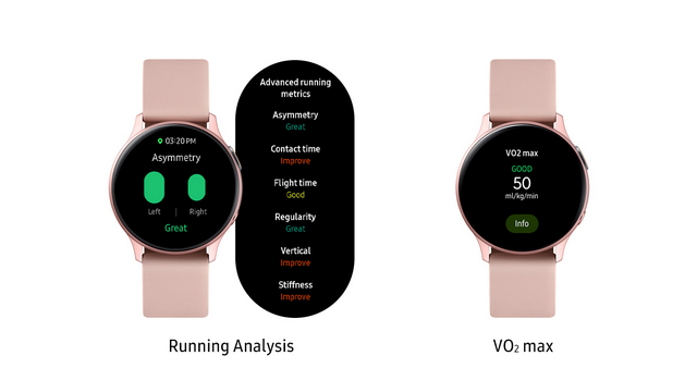 galaxy watch active 2 running analysis vo2 max