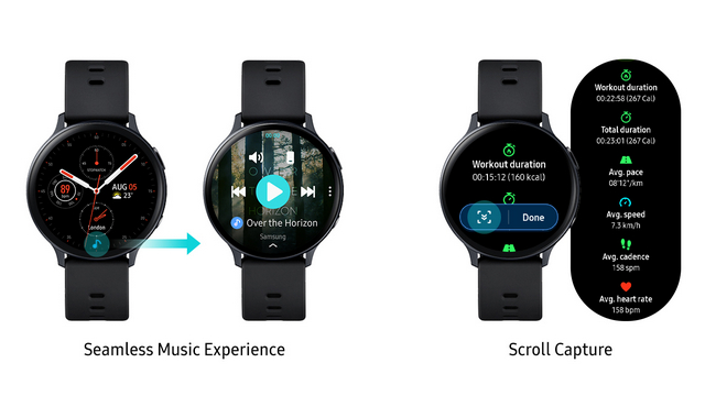 galaxy watch scroll capture